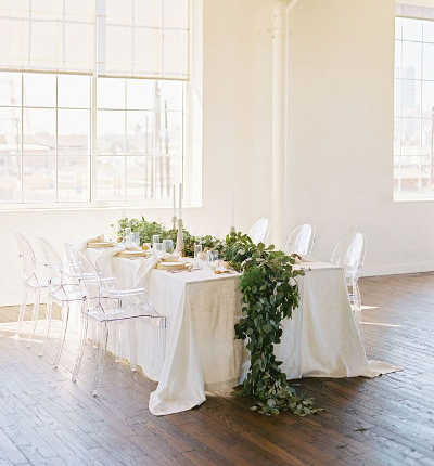 Biały obrus - catering